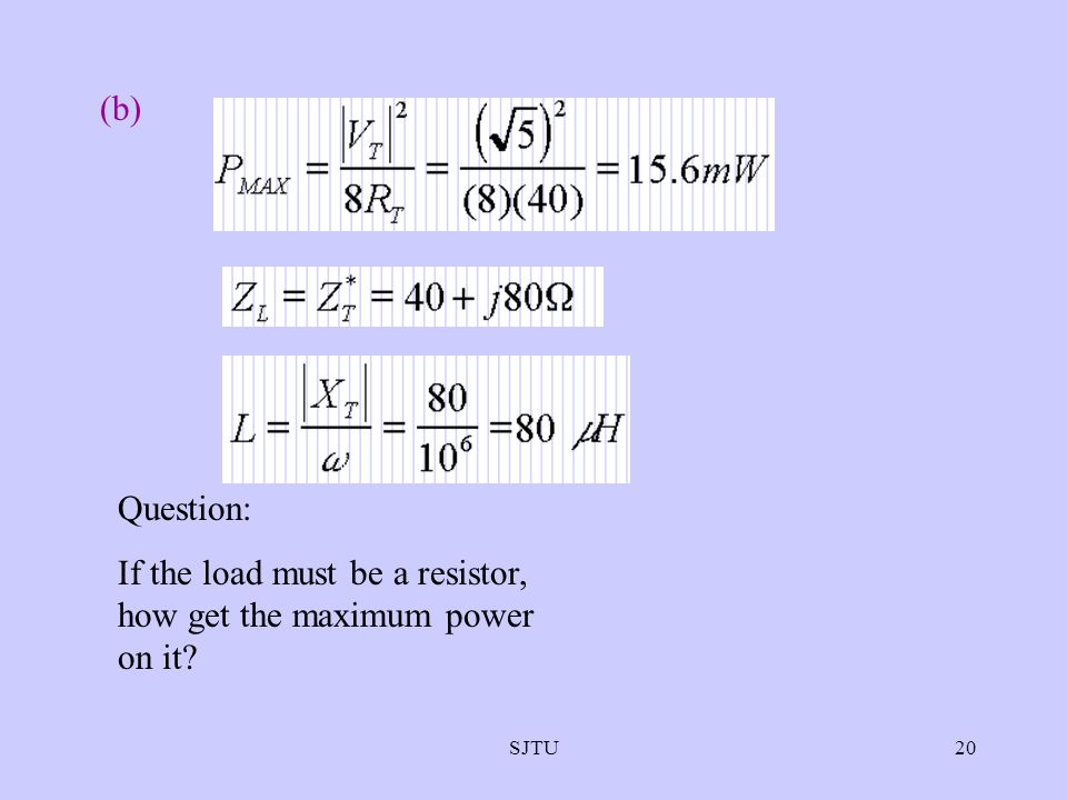 If the load must be a resistor, how get the maximum power on it