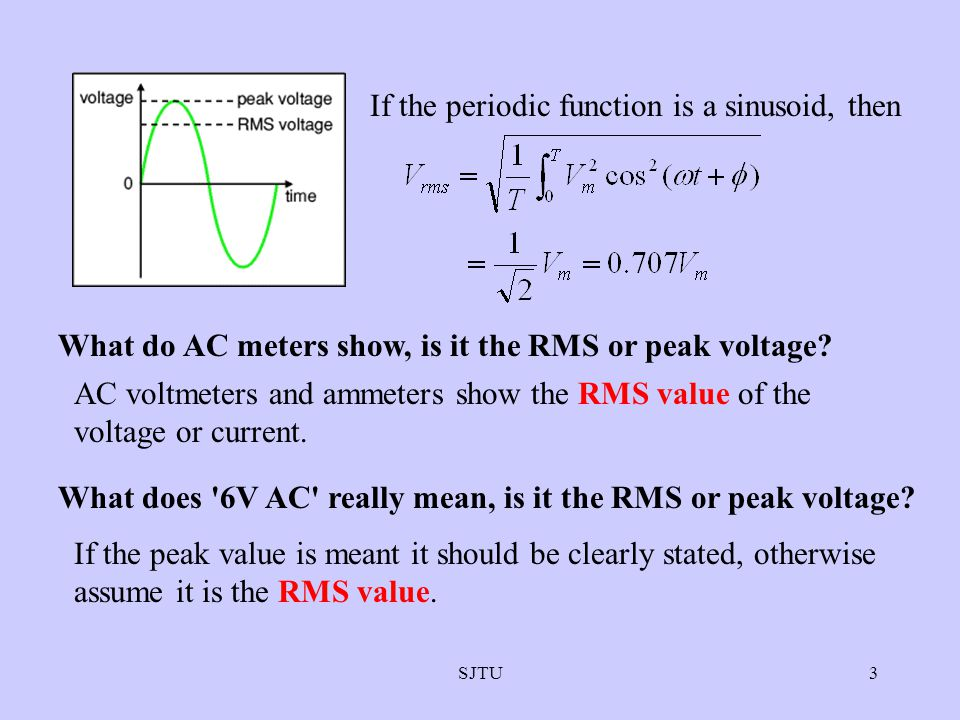 If the periodic function is a sinusoid, then
