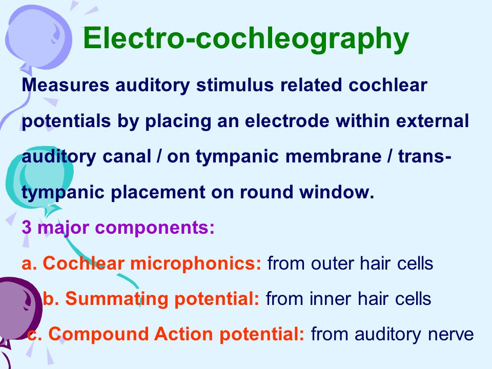Electro-cochleography