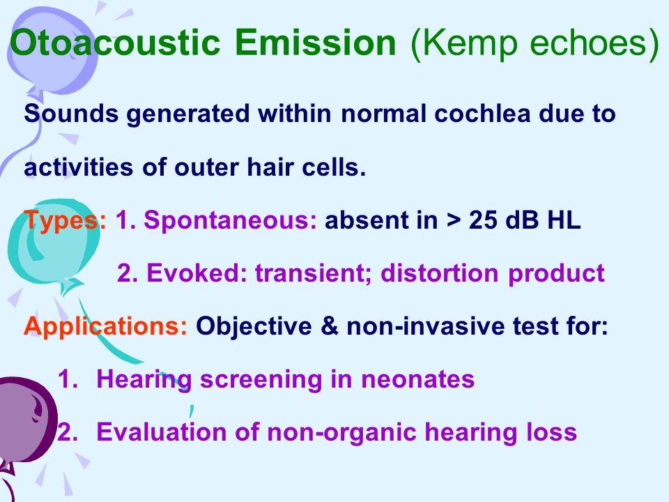 Otoacoustic Emission (Kemp echoes)
