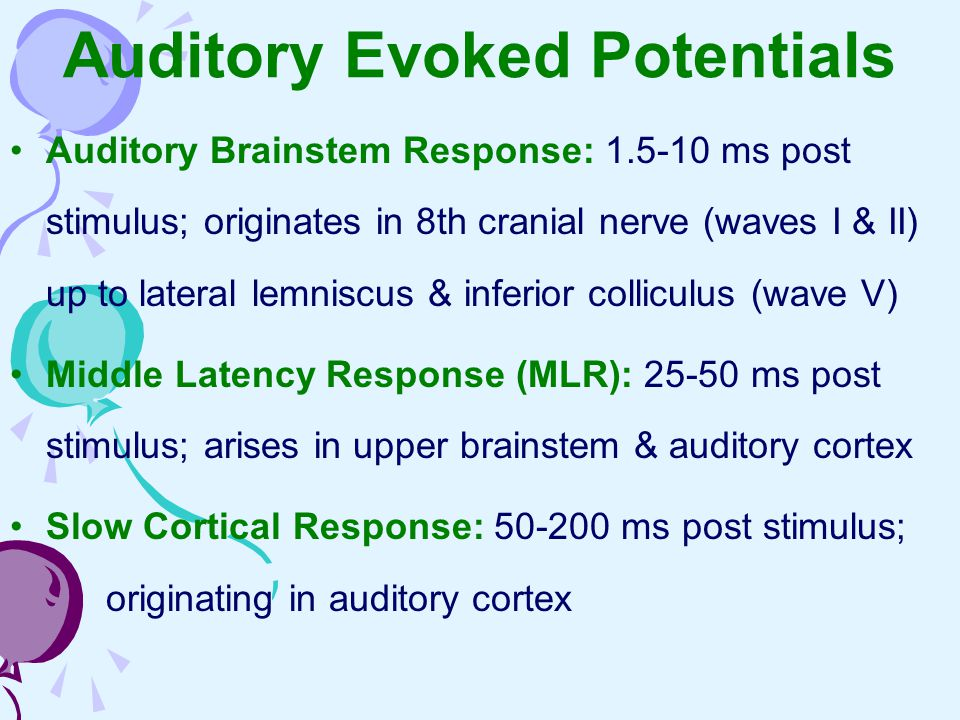 Auditory Evoked Potentials