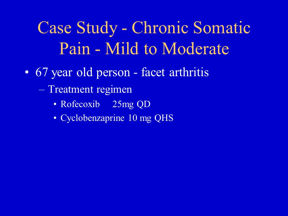Case Study - Chronic Somatic Pain - Mild to Moderate