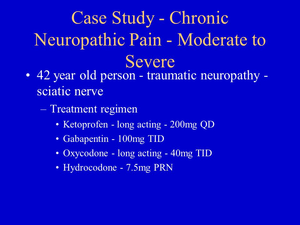 Case Study - Chronic Neuropathic Pain - Moderate to Severe