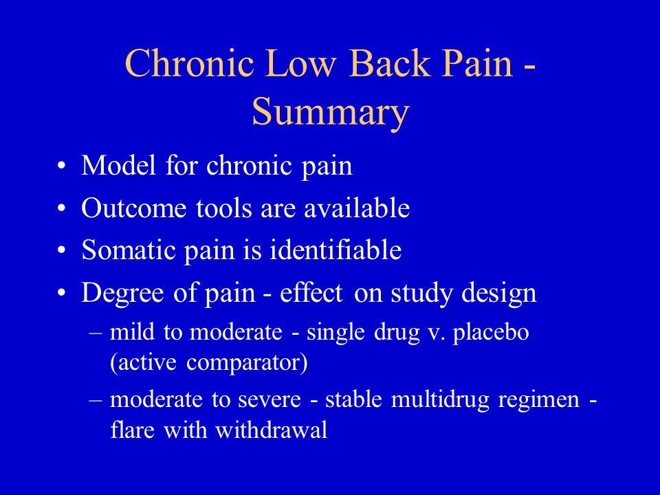 Chronic Low Back Pain - Summary