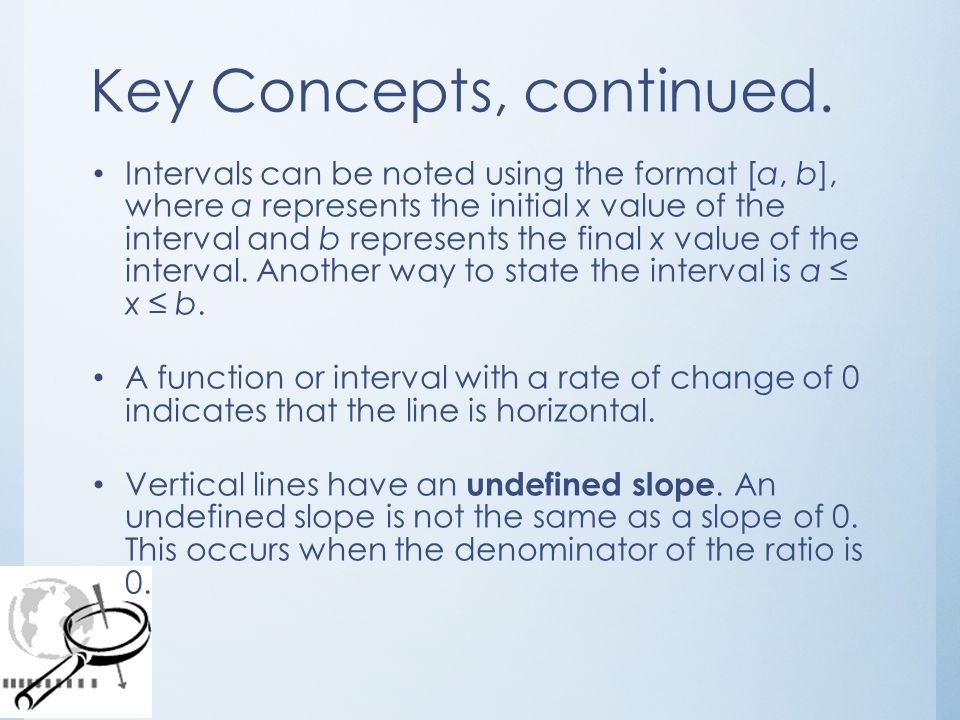 Key Concepts, continued.