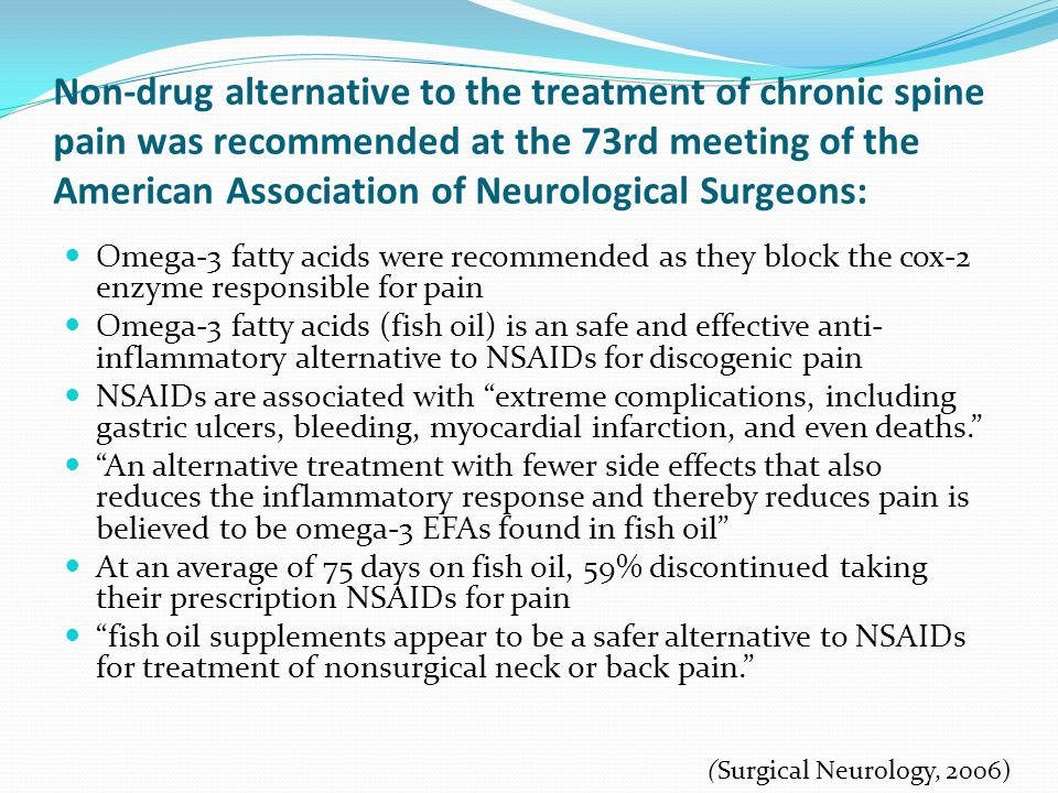 Non-drug alternative to the treatment of chronic spine pain was recommended at the 73rd meeting of the American Association of Neurological Surgeons: