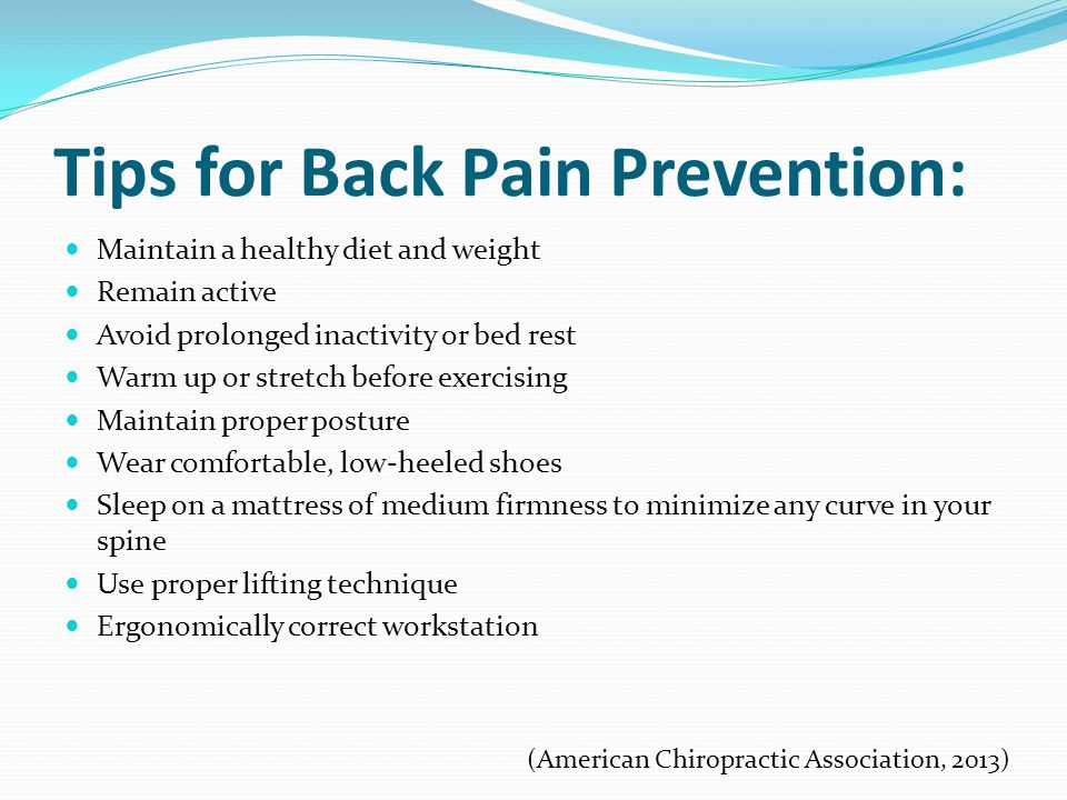 Prevention Of Back Pain And Treatments Ppt Download