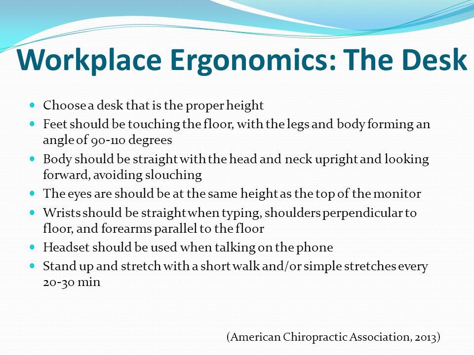 Workplace Ergonomics: The Desk