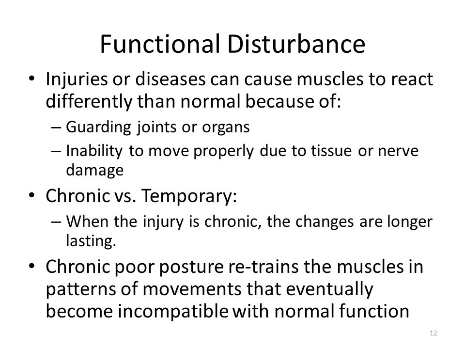 Functional Disturbance
