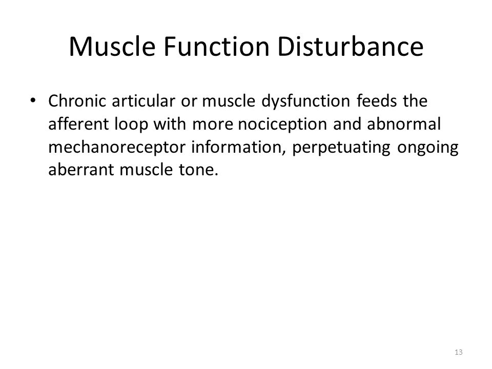 Muscle Function Disturbance