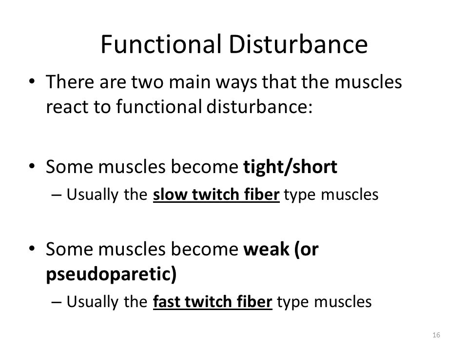 Functional Disturbance