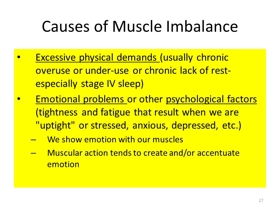 Causes of Muscle Imbalance