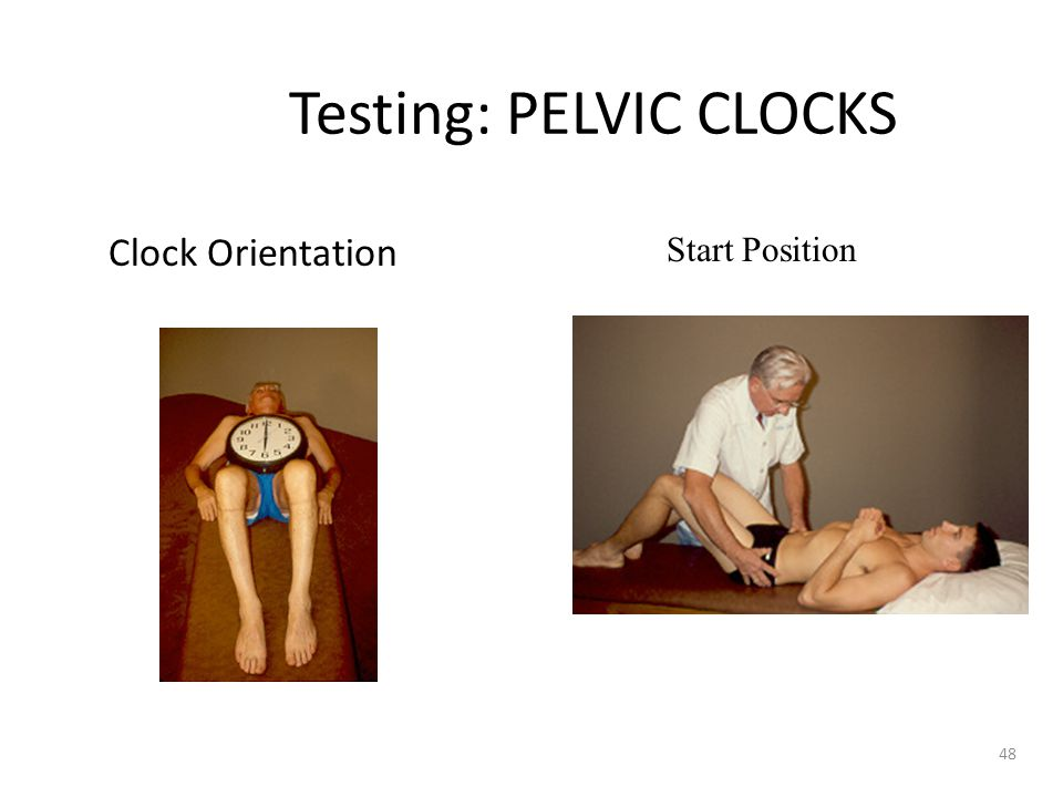 Testing: PELVIC CLOCKS