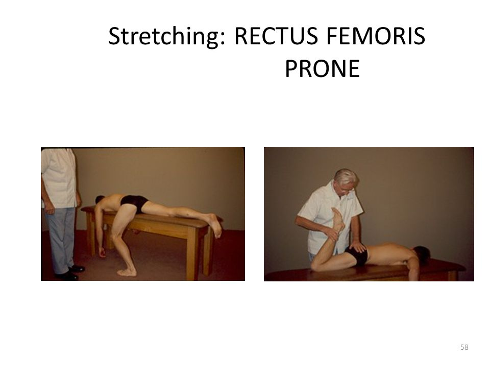 Stretching: RECTUS FEMORIS PRONE