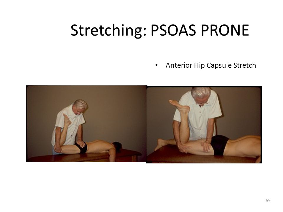 Stretching: PSOAS PRONE