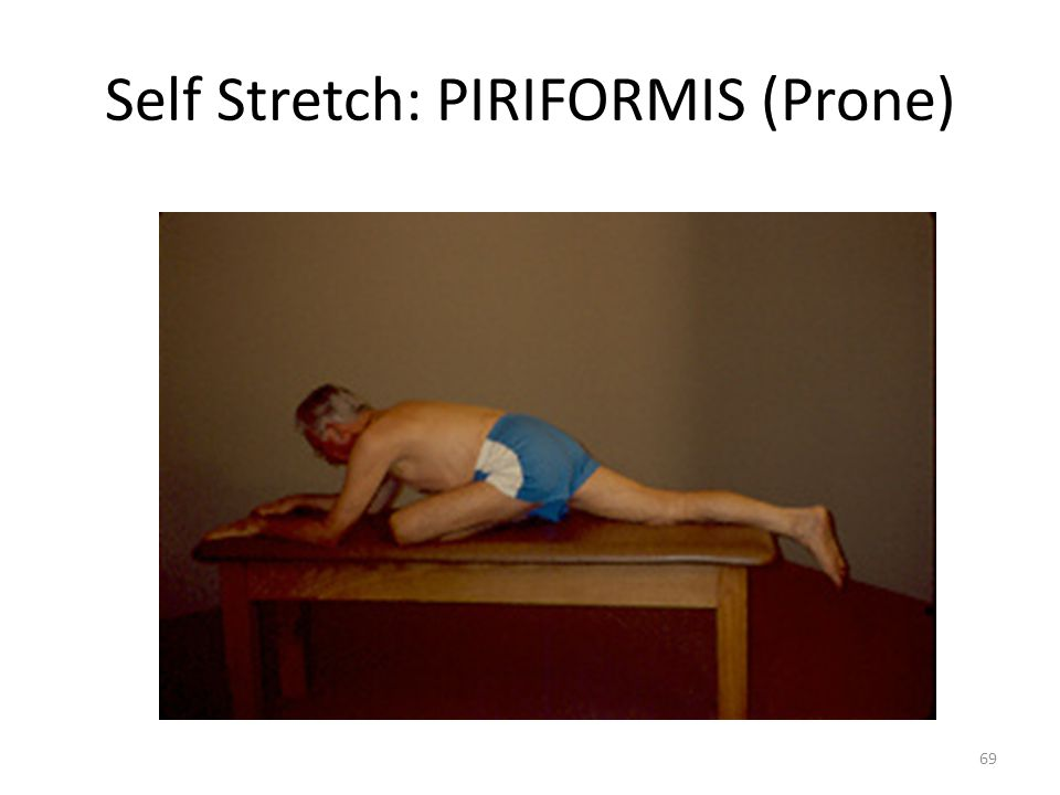 Self Stretch: PIRIFORMIS (Prone)