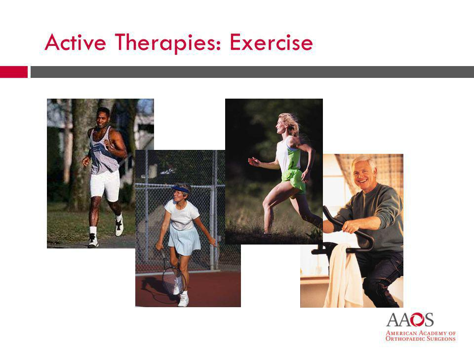Active Therapies: Exercise