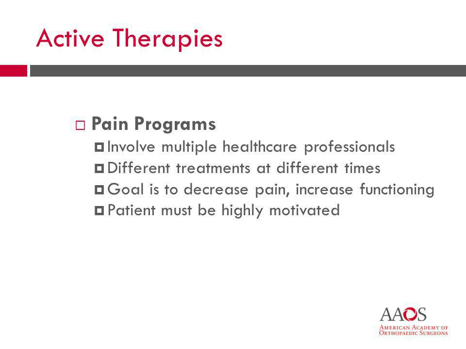 Active Therapies Pain Programs