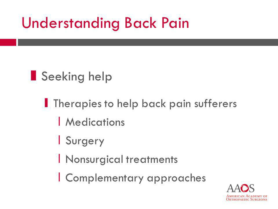 Understanding Back Pain