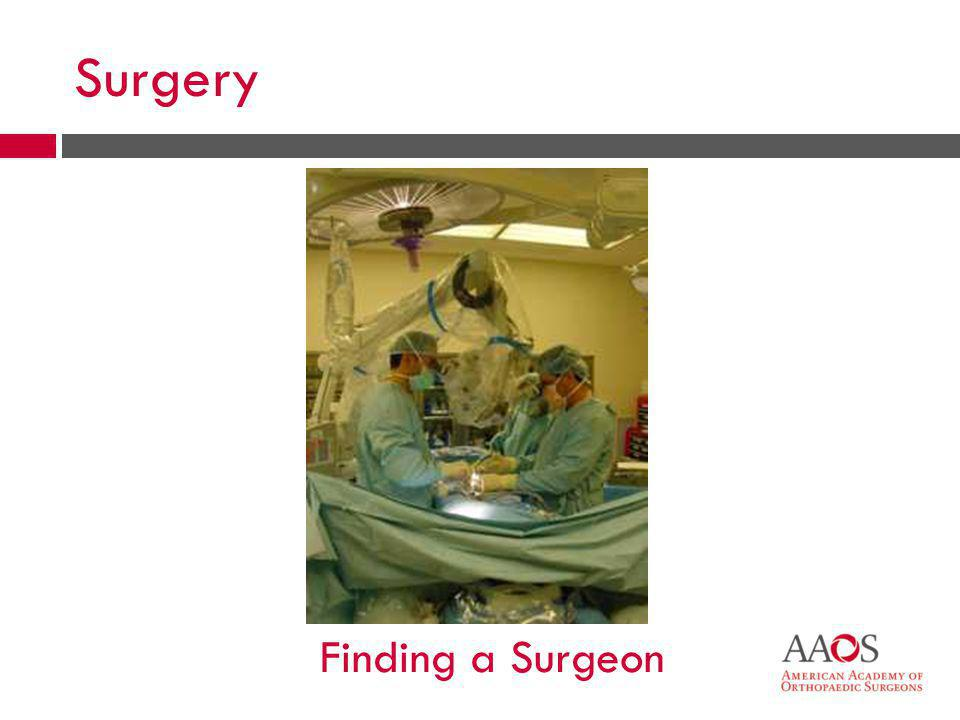 Surgery Finding a Surgeon
