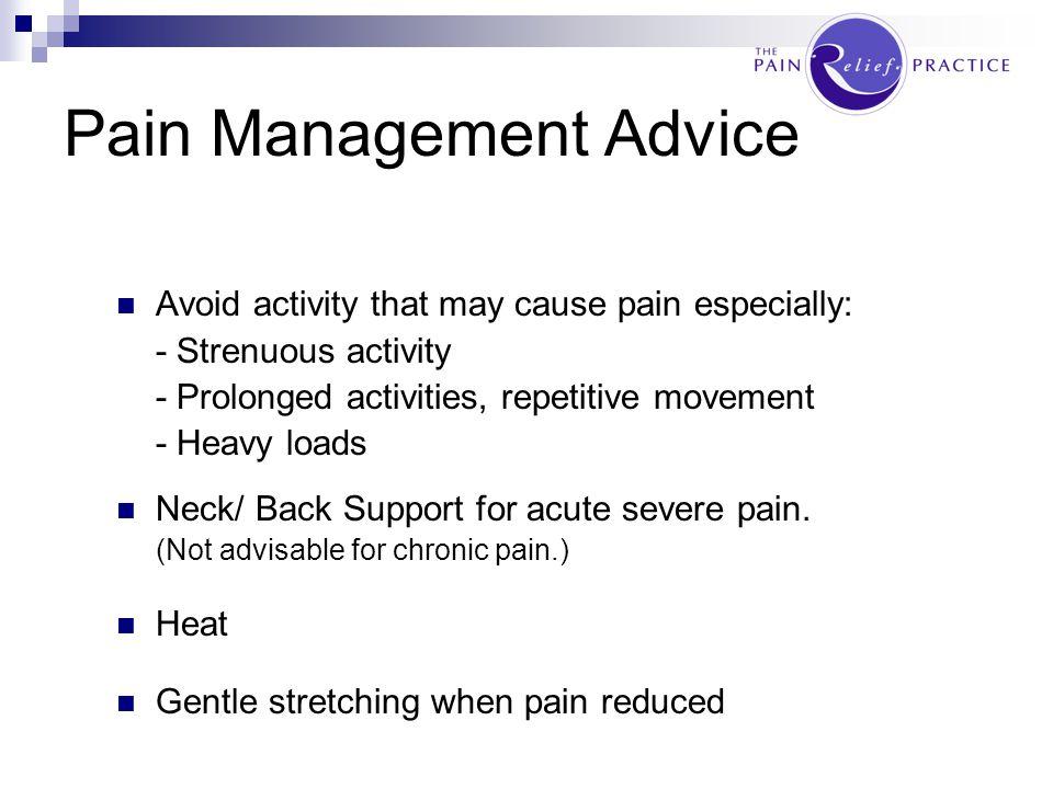 Pain Management Advice