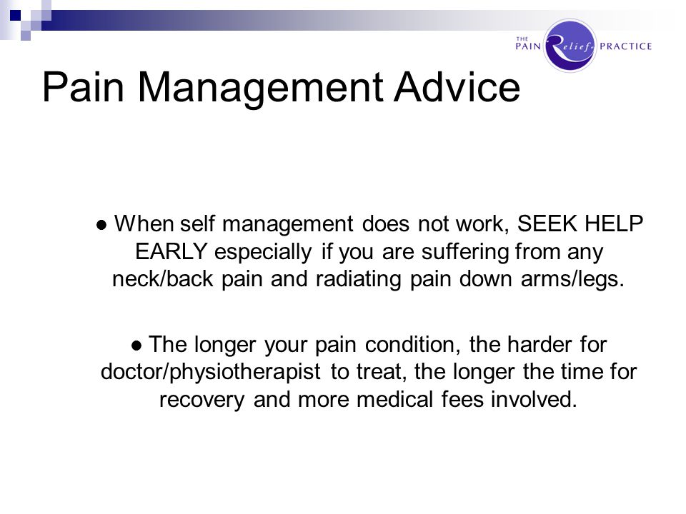 Pain Management Advice