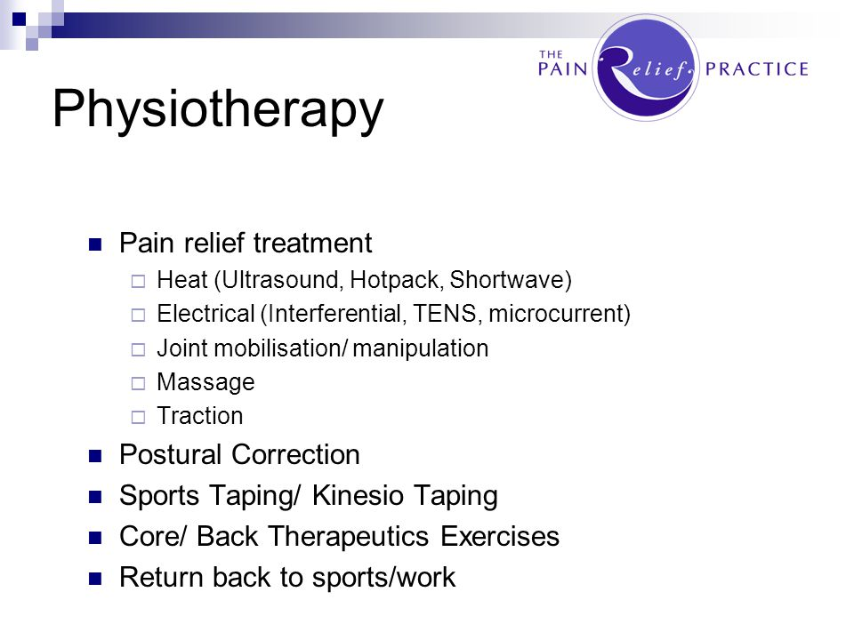 Physiotherapy Pain relief treatment Postural Correction