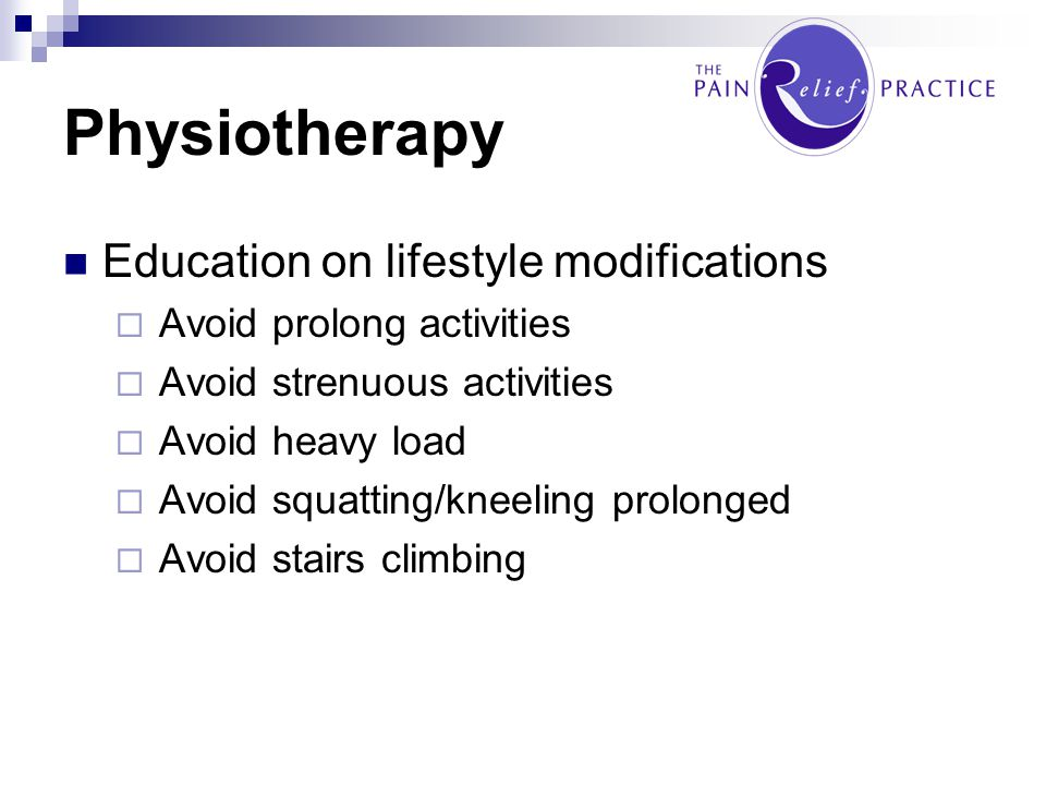 Physiotherapy Education on lifestyle modifications