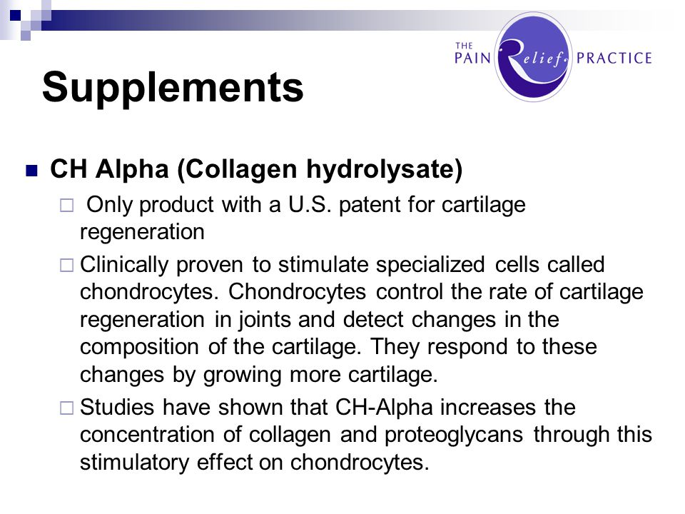 Supplements CH Alpha (Collagen hydrolysate)