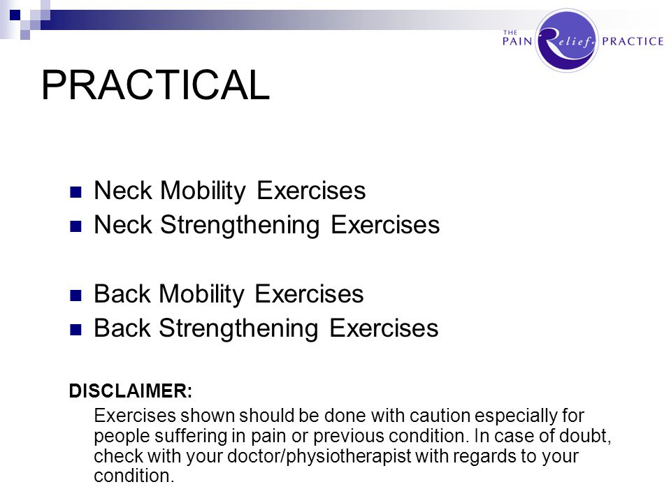 PRACTICAL Neck Mobility Exercises Neck Strengthening Exercises
