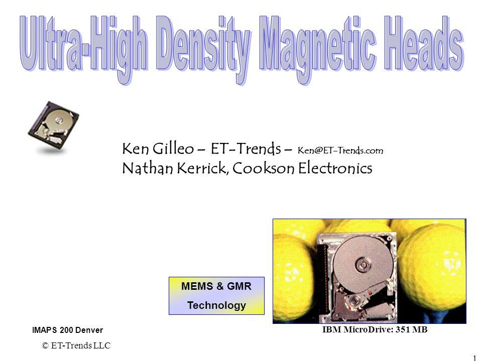 Ultra-High Density Magnetic Heads