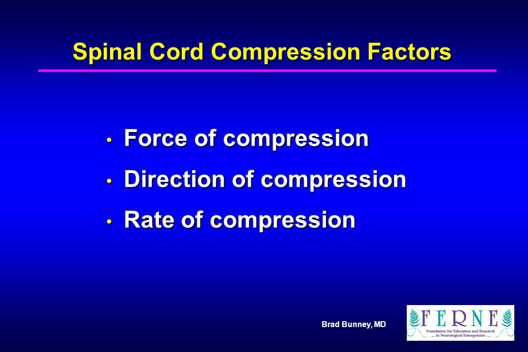 Spinal Cord Compression Factors
