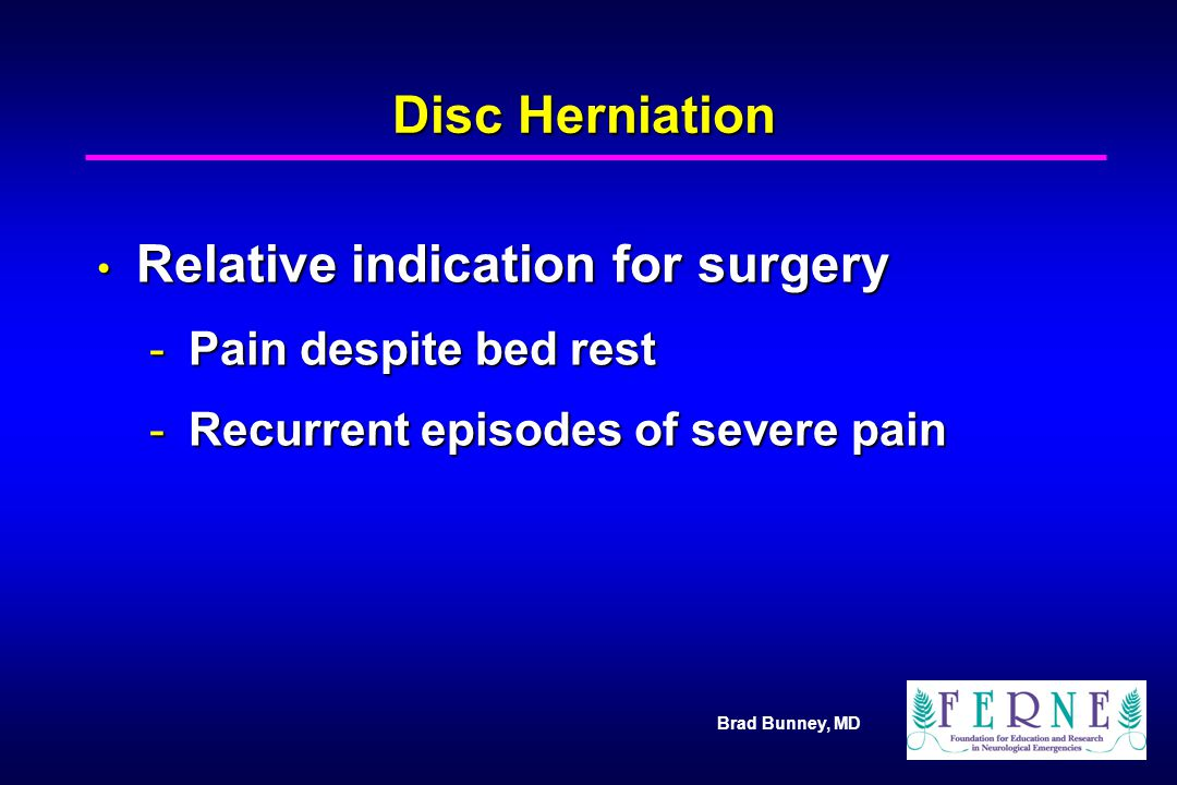 Relative indication for surgery
