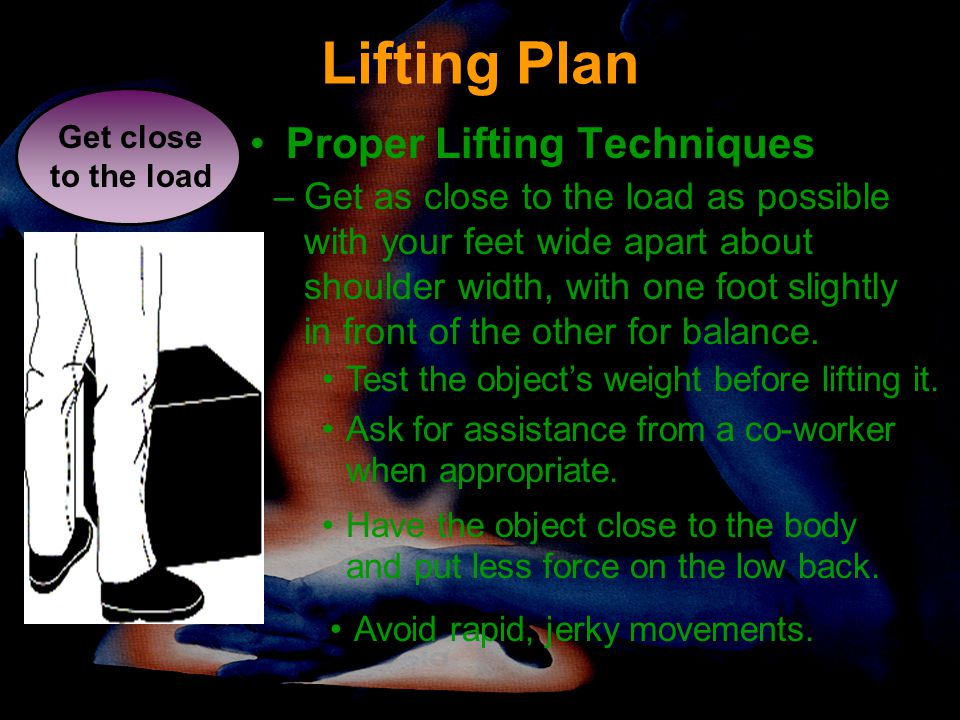 Lifting Plan Proper Lifting Techniques