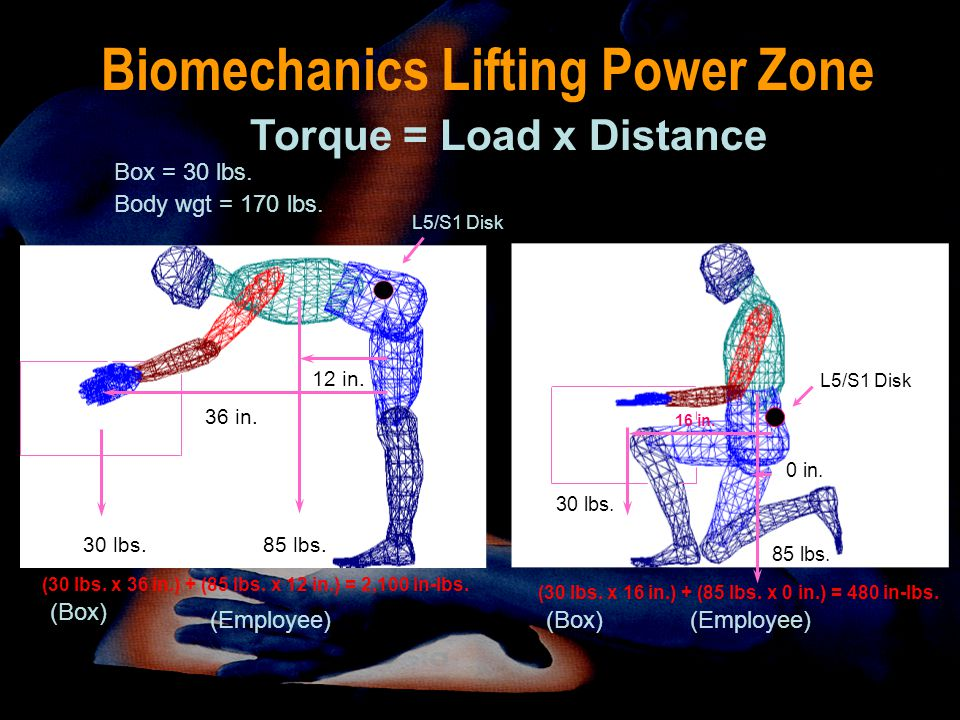 Biomechanics Lifting Power Zone
