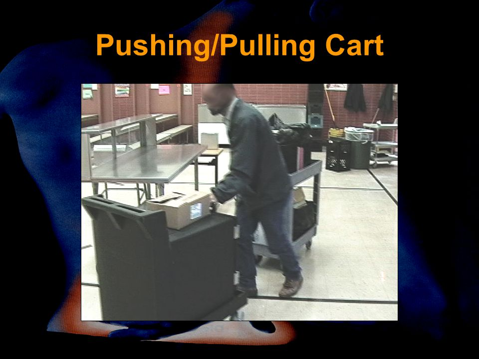 Pushing/Pulling Cart Twisting Better to push than pull