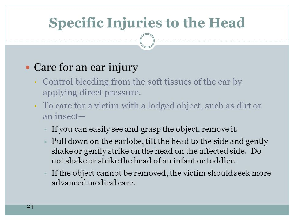 Specific Injuries to the Head