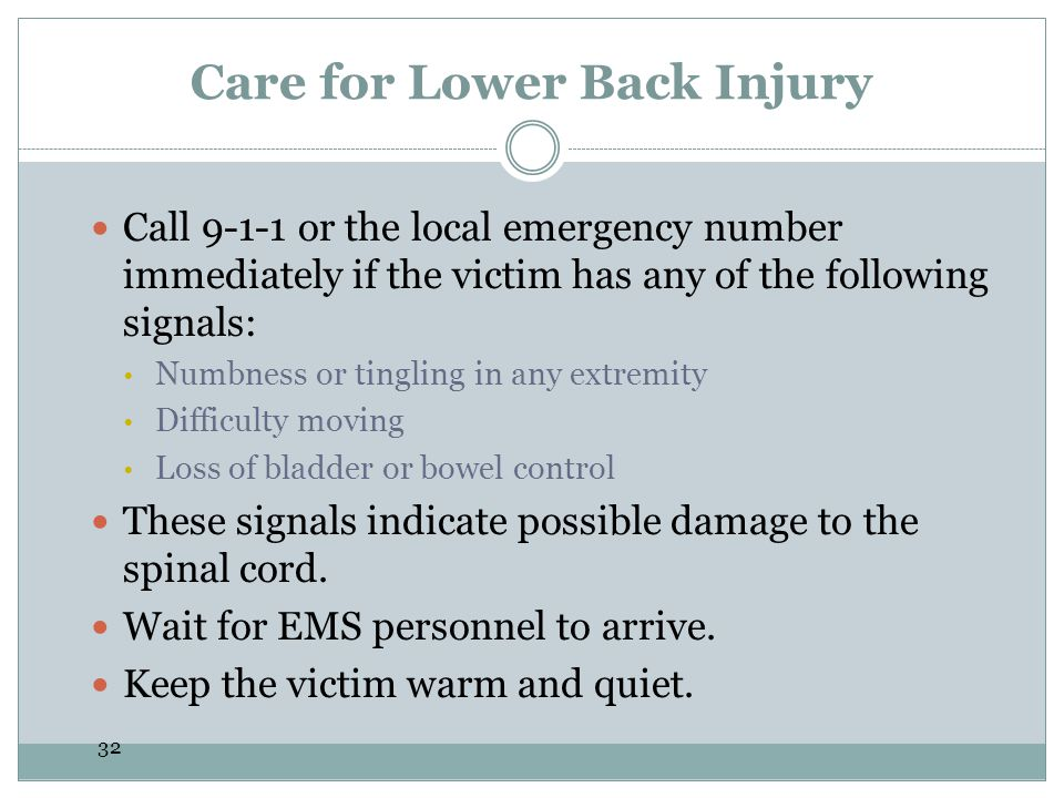 Care for Lower Back Injury