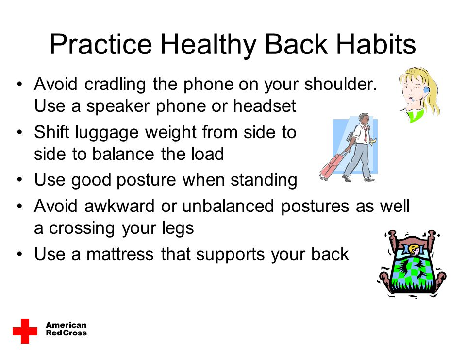 Practice Healthy Back Habits