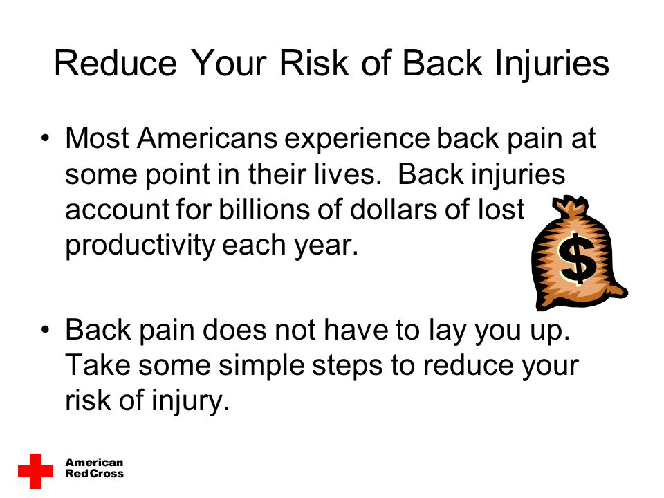 Reduce Your Risk of Back Injuries