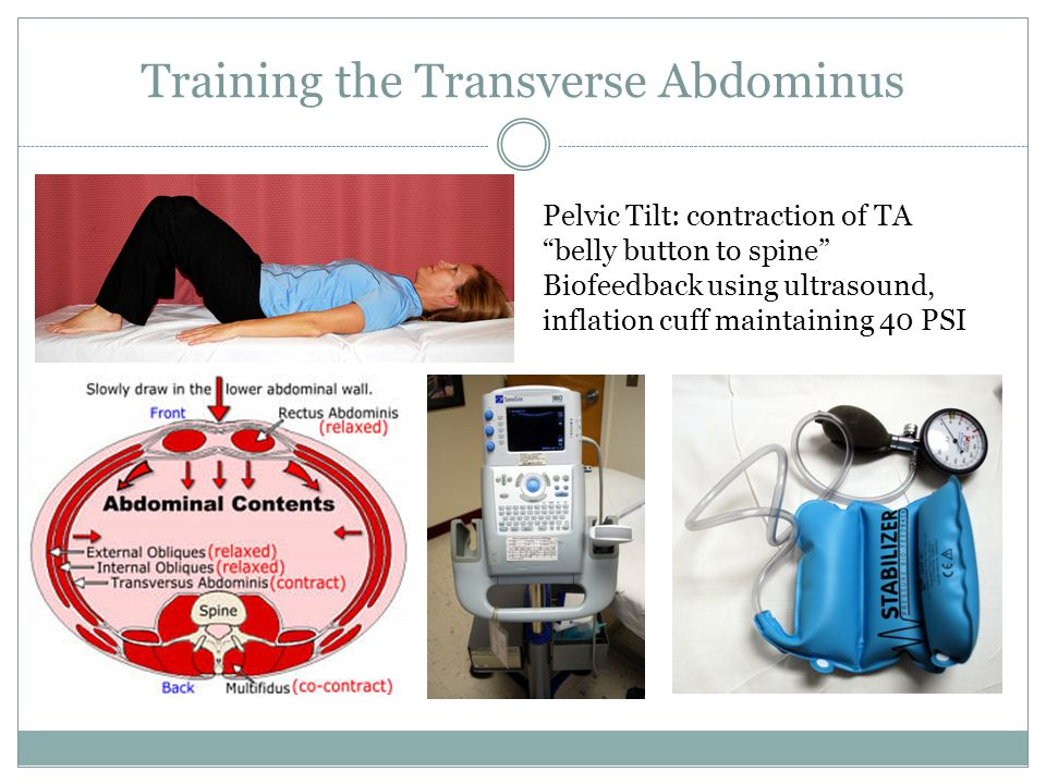 Training the Transverse Abdominus