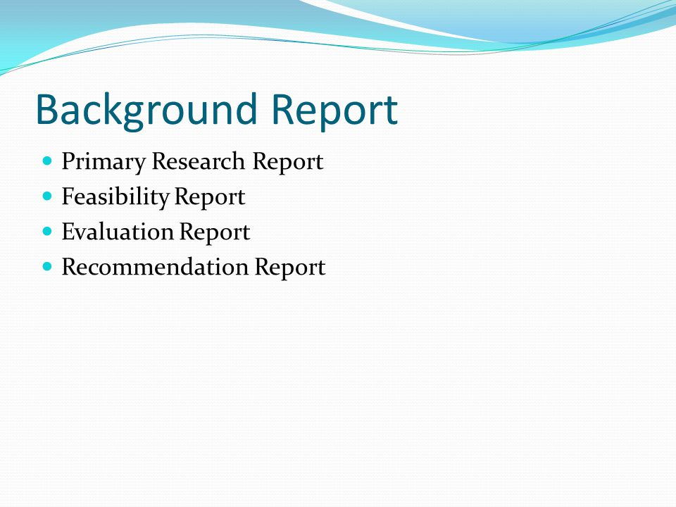 Definitions And Classification: Background Reports - Ppt Video