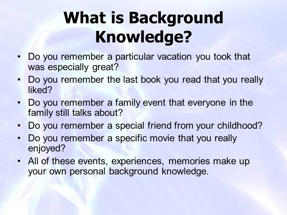 What is Background Knowledge
