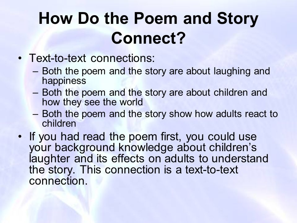 How Do the Poem and Story Connect