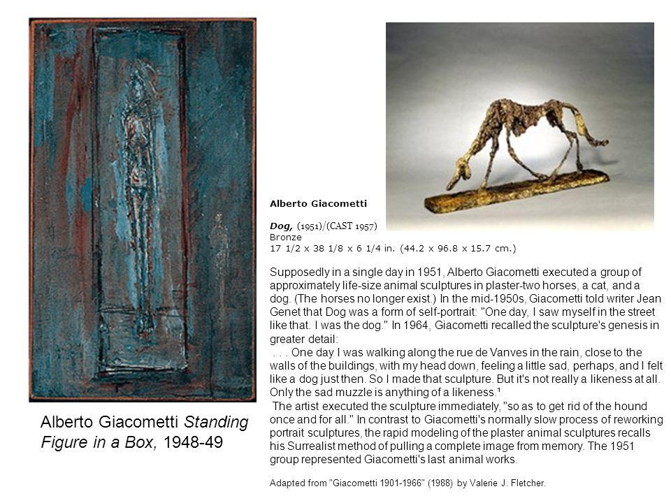 Alberto Giacometti Standing Figure in a Box, 1948-49