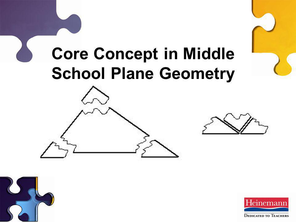 Core Concept in Middle School Plane Geometry