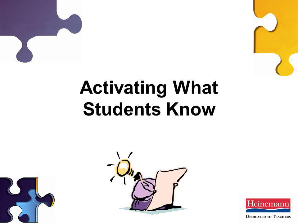 Activating What Students Know