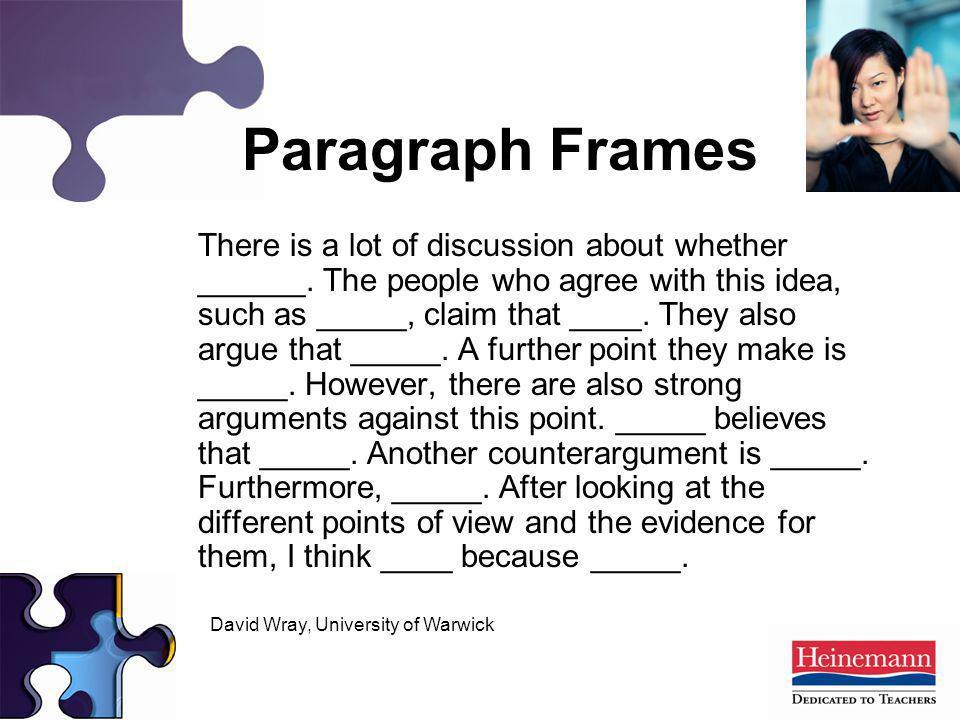 Paragraph Frames