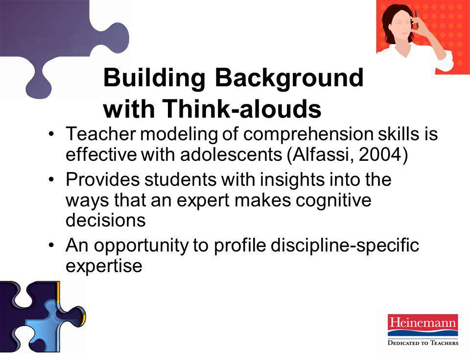 Building Background with Think-alouds