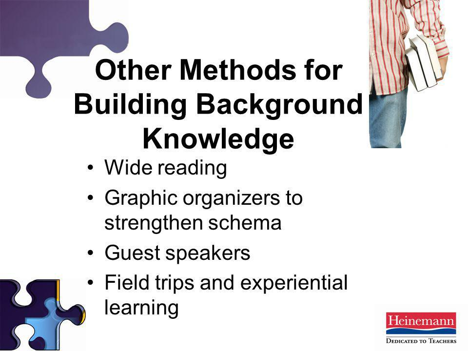 Other Methods for Building Background Knowledge